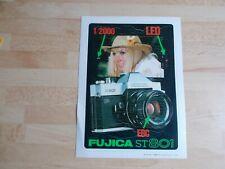 Autocollant vintage appareil photo FUJICA ST 801