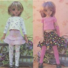 "Pattern fits 18"" Kaye Wiggs doll Bjd skirt Thigh-high socks Top,hat, armlets"