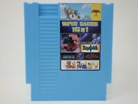 Super Games 143 in 1 Nintendo NES Cartridge Multicart v1.0 Cool Blue 100 Best