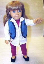 """American Girl Today Pleasant Company GT3 18"""" Doll Blond Hair Blue Eyes"""