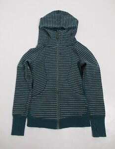 Lululemon Scuba Hoodie *Classic Stripe Heathered Emerald Heathered Green Size 2