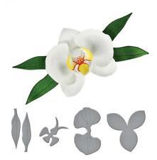 Orchid Flower Metal Cuttting Dies Cut Die Scrapbooking Paper Craft Mold Stencil