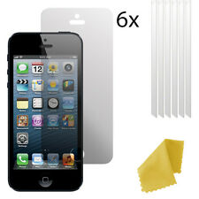 6 x Clear Plastic Screen Guard LCD Protector Film Layer For Apple iPhone 5 5s