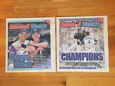 BASEBALL WEEKLY Lot 2 WORLD SERIES Issues 2001 Yankees vs. Diamondbacks