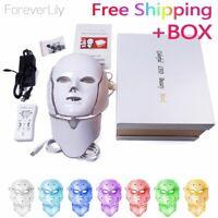 Led Mask Face Light Photon Skin Rejuvenation Therapy 7 Colors Wrinkle Facial Acn