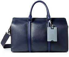 Ted Baker 'Basking' Leather Holdall Travel/Holiday Bag Navy RRP £319