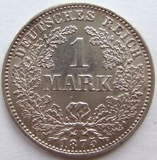 Top! 1 Mark 1875 G en revêtit/Tampon Brillance RARE!!!
