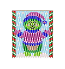 TURTLE IN THE WINTER~PONY BEAD BANNER PATTERN ONLY