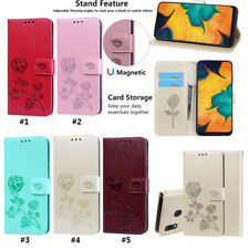 Flower PU Leather Flip Card Wallet Phone Case Cover For Samsung A20 A91/M80S A10