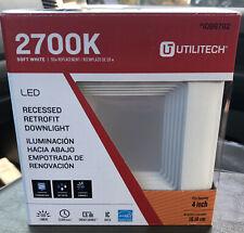 Utilitech 50-Watt Soft White  Recessed Downlight 4 inch 1098782