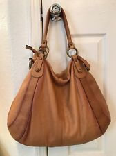 7 FOR ALL MANKIND Brown Leather Women's Large Tote Shoulder Bag