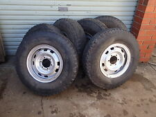 1x NISSAN PATROL 6 STUD STEEL WHEEL SPLIT RIM & LIGHT TRUCK TYRE