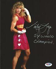 Kathy Long Signed 5x World Champ Kickboxing 8x10 Photo PSA/DNA COA Picture UFC 1