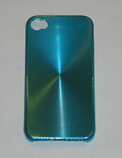Light Blue Aluminum Metal Hard Case for Apple iPhone 4 4S
