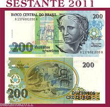 BRAZIL, BRASILE, BRASILIEN  - 200 CRUZEIROS 1990 - P. 229 - FDS/UNC
