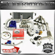 turbo kit SS manifold 0.63 T3/T4 Turbo + 4 in 1 gauge fit Civic B16/B18 BSeries
