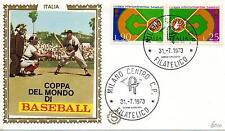 Repubblica Italiana 1973 FDC Filagrano Gold Baseball