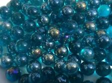 25 LUSTERED TURQUOISE GLASS MARBLES  16mm traditional game play trade party bag