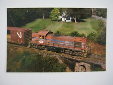 Morristown & Erie ALCO RS1 Diesel #15 M&E R.W. McEwen Hanover NJ Train Postcard