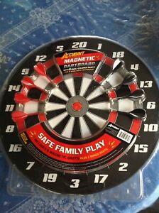 """NEW Accudart Magnetic dart board 17"""" with 8 darts red/black Brand New in Package"""