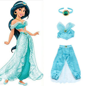 Princess Jasmine Aladdin Adult Cosplay Party Women Fancy Dress Costume Outfit