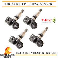 TPMS Sensores (4) Válvula de presión de neumáticos de reemplazo OE para Porsche Cayman 2008-2013
