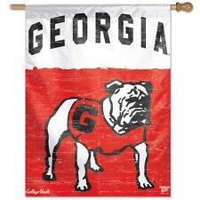 "GEORGIA BULLDOGS VAULT 27""X37"" BANNER FLAG BRAND NEW FREE SHIPPING WINCRAFT"