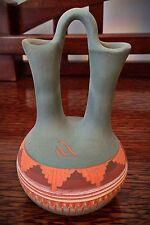 """Signed Southwestern Art Pottery Wedding Vase 5"""""""