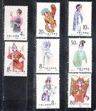 1983 China sellos, Opera, Conjunto Completo estampillada sin montar o nunca montada, SG 3261-8