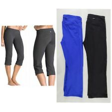 ATHLETA lot bundle of 2 pairs kickbooty Pants XS black and blue crop capri