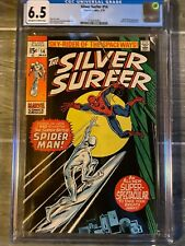 Silver Surfer 14 CGC 6.5 Spider-Man appearance! 1970