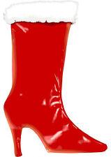 Tease The Season High Heel Stocking Red 15 Inch