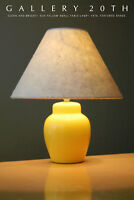 SWEET! MID CENTURY SUN YELLOW TABLE LAMP! ACCENT PANTON 1970's DECORATOR GALLERY