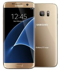 Unlocked Samsung Galaxy S7 Edge G935T T-Mobile Family Simple Mobile Gold Good
