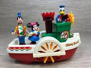 Vintage Walt Disney Show Boat 1986 Playmates Mickey/MInnie/Goofy Kids Toys