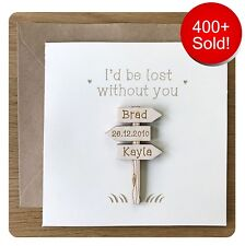 Personalised Cards For Wedding Anniversary Birthday Card For Wife Husband Fiancé