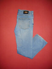 Hugo Boss Alabama-W34 L32-Zip-Fly-Herren Blau Denim Jeans-B318-2