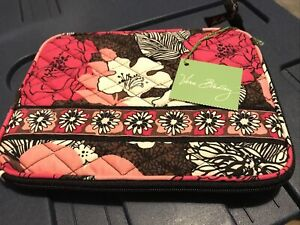 "Vera Bradley Mocha Rouge Mini Tablet E-Reader Sleeve Case 6.25"" x 8.5"" -NEW-"