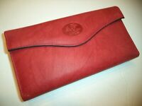 Buxton Heiress Genuine Leather Checkbook,Red