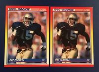 1990 Score # 301 PAT TERRELL ROOKIE RC Lot 2 Rams Notre Dame Nice Cards !