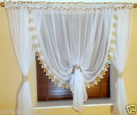 CURTAINS FOR YOU LUXURY AMAZING READY MADE CURTAIN  2 COLOURS OF WIDE GUIPURE
