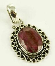Collares y colgantes de joyería rubí plata