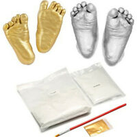 Hot 3D Baby Hand & Foot Print Plaster Casting Kit Handprint Footprint Gift NEW