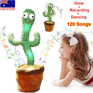 Talking Toy Dancing Cactus Doll Speak Talk Sound Record Repeat Kawaii Cactus Toy