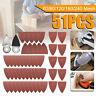 51pcs Finger Sanding Sheets Pads Paper Set Oscillating Multitool For Dewalt