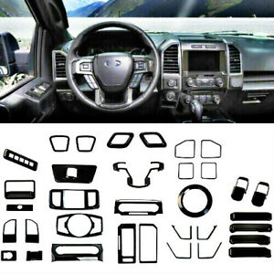 For Ford F150 15-19 Carbon Fiber full Interior Accessories Decor Cover Trim 34x