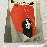Sheet040 Sheet Music Piano Uke Banjo I'm Sorry Sally Fox Trot Ballad c1928
