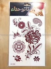 *US SELLER*brown mehndi henna Tattoo temporary tattoo Party Favors Bag Fillers
