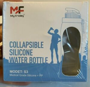 My Friday Collapsible Silicone Water Bottle Clear 500mL Medical Grade BPA Free