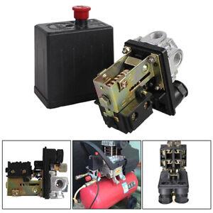 Air Compressor Pressure Control Switch 4 Port 90-125 PSI Regulator Gauge Valve